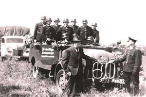 Umzug zum Amtsfeuerwehrfest 1949